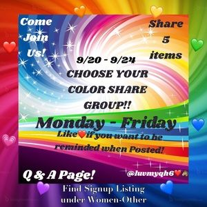 💗Color Share Group Q&A!💙